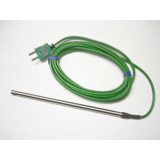 General Purpose Temperature Probe without handle, Type K, Ø4,8mm, -50 to +100°C