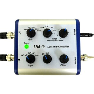 LNA 10, Low Noise Differential Preamplifier for Oscilloscopes